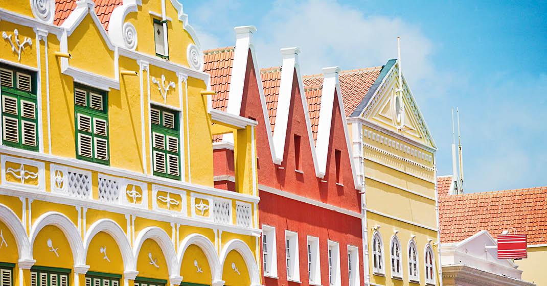 Willemstad, CuraÇao, bunte Kolonialhäuser