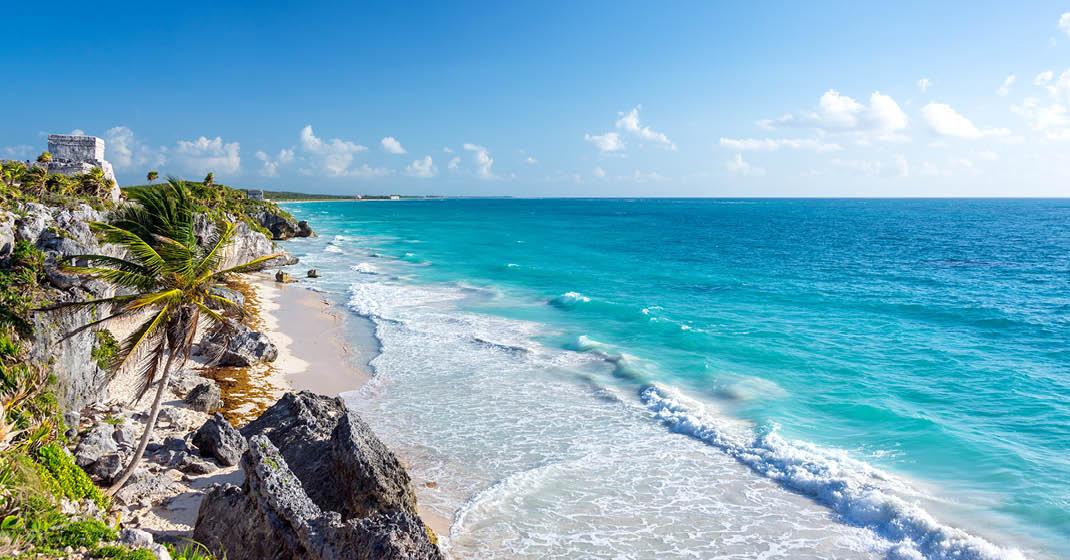 karibisches Panorama, Maya-Ruinen