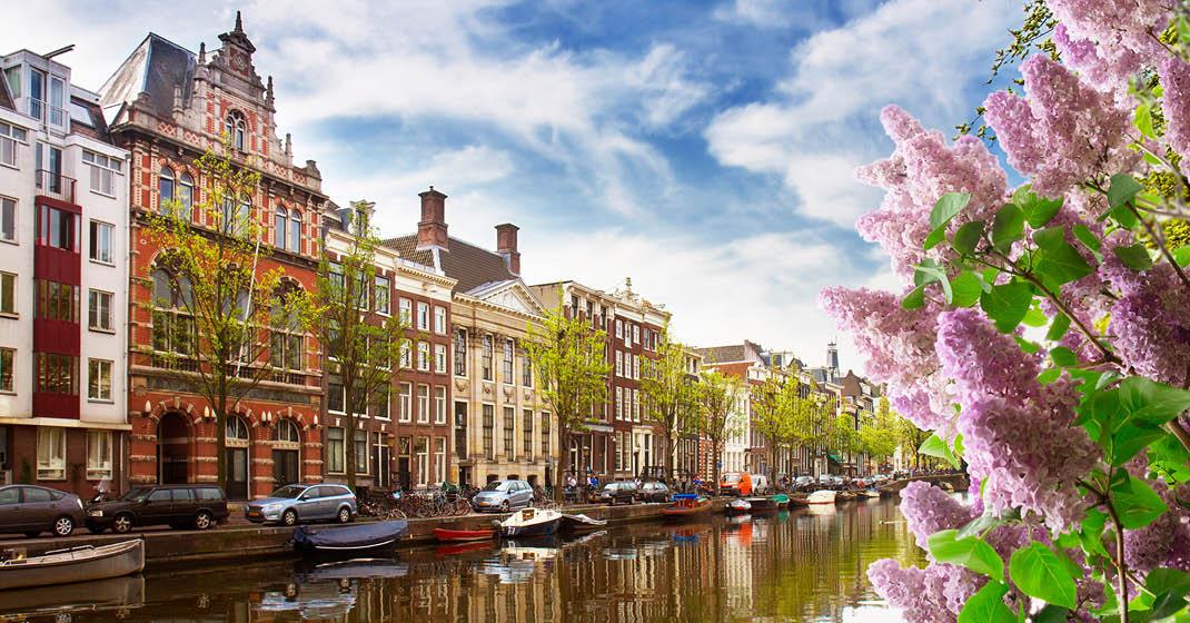 Amsterdam im Frühling, Grachten