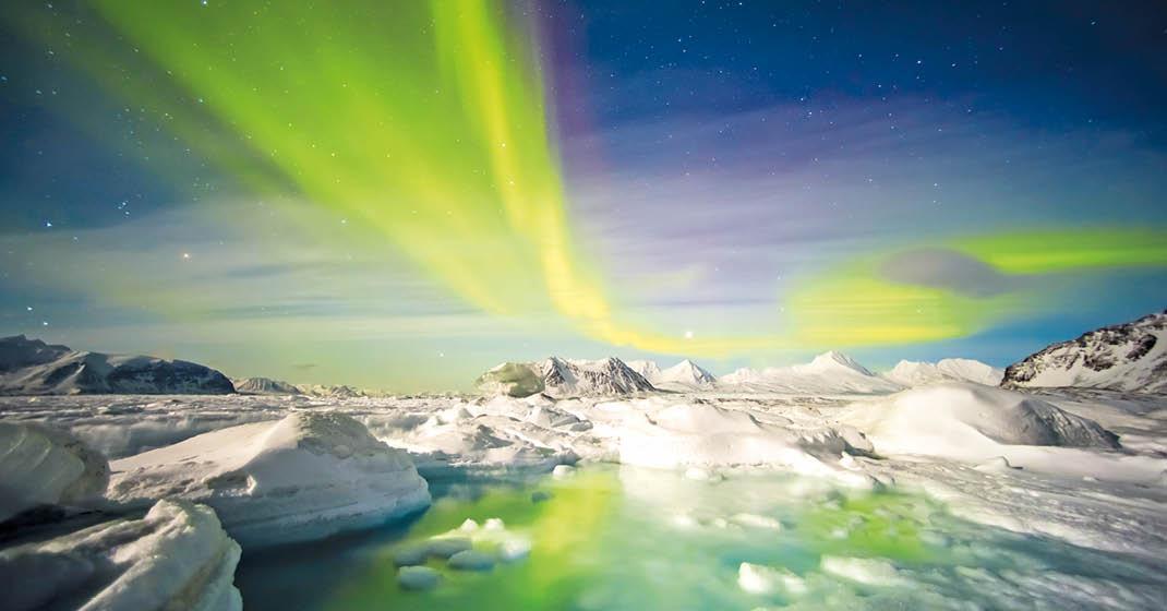 Nordische Polarlichter_Spitzbergen