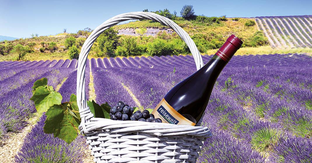Lavendel und Wein