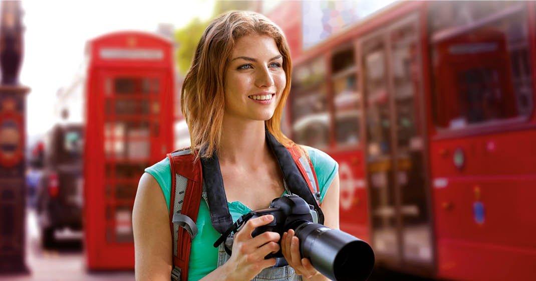 London_Frau mit Kamera