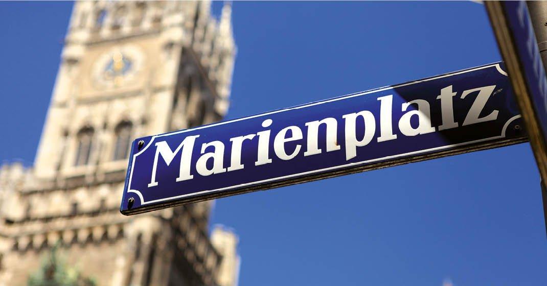 München_Marienplatz Schild
