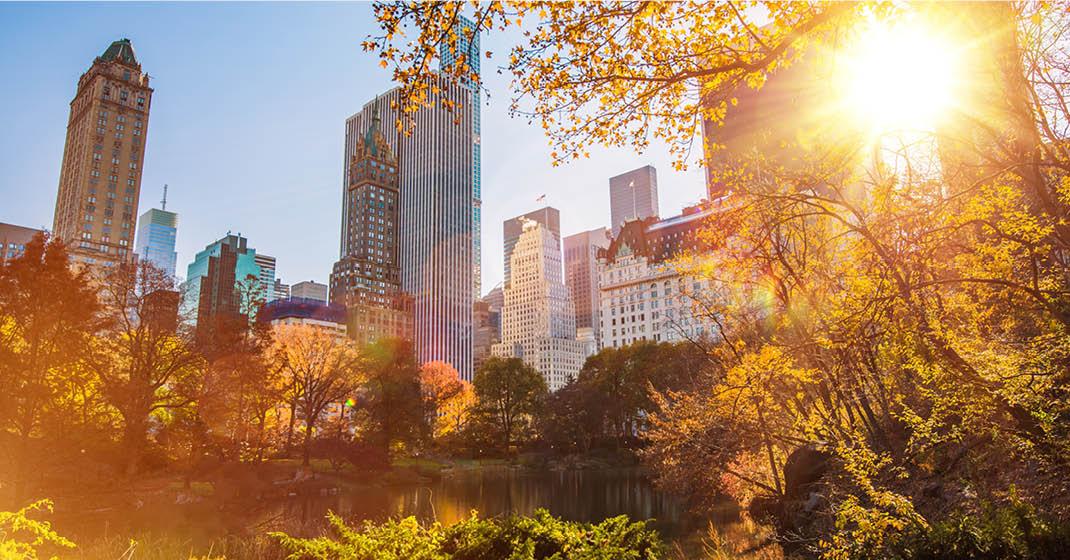 New York Central Park Wolkenkratzer