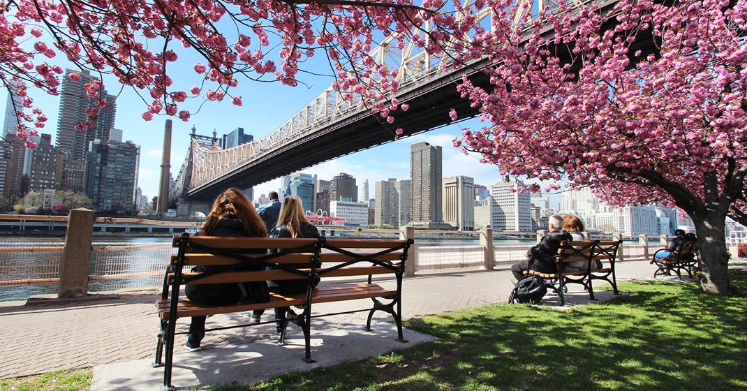 New York und Hudson NY Frühling