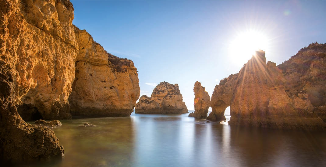 Portugal_Softwandern_Algarve_Felsen_Sonne_Meer