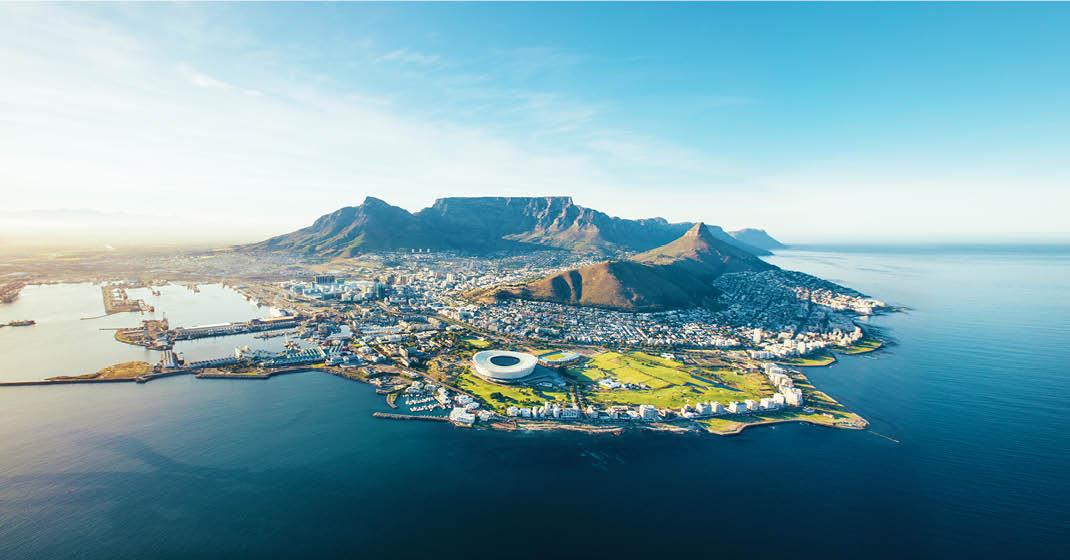 Südafrika_Kapstadt Luftaufnahme