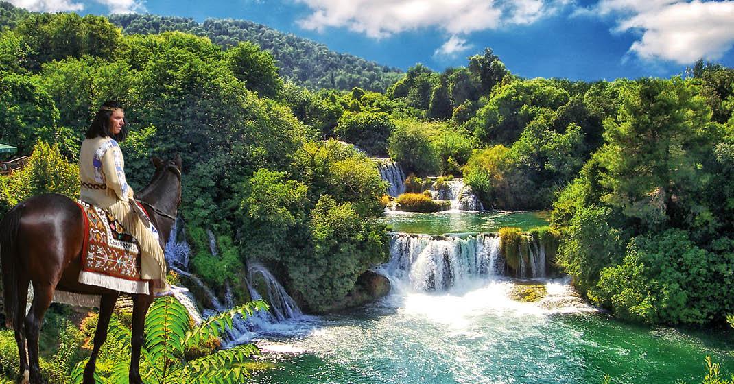 winnetou_krka-Wasserfälle
