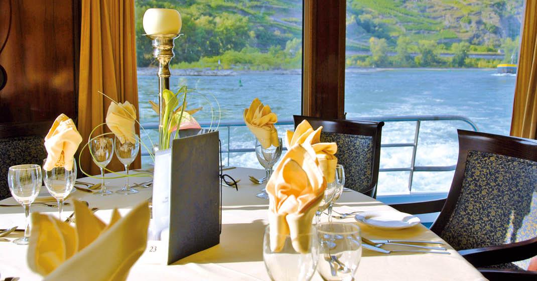 MS RheinPrinzessin_Restaurant_Tisch_KF8529