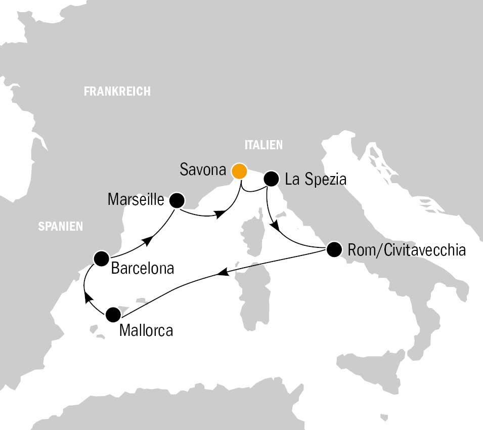 Costa Magica Mittelmeer - Costa Magica – Mediterrane Sommerverlängerung im westlichen Mittelmeer