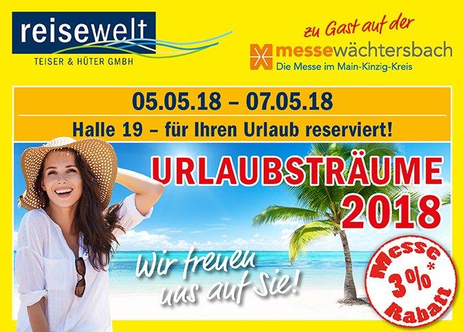 News Beitrag Messe Waechtersbach neu - Reisemesse Urlaubsträume in Wächtersbach