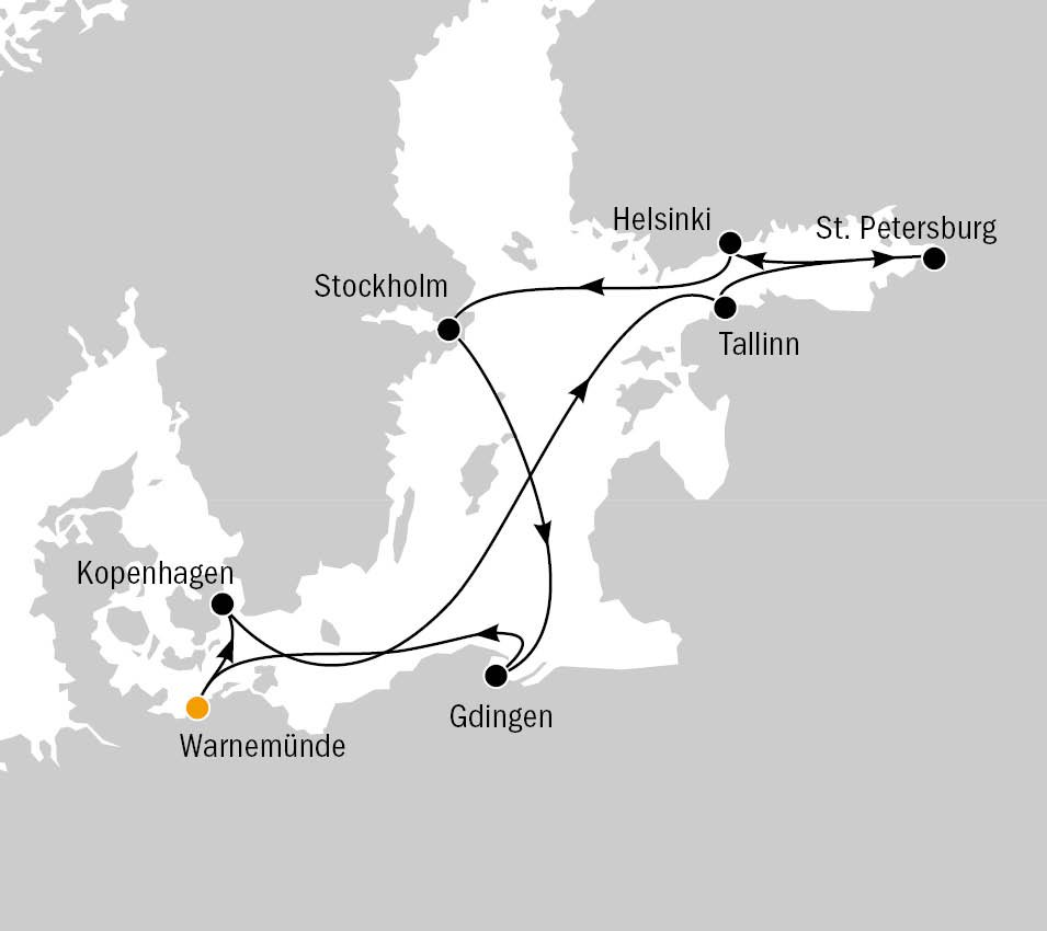 AIDAmar_Weiße Nächte in der Ostsee