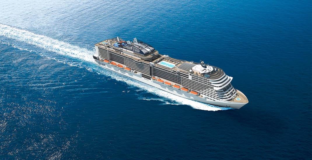 MSC Meraviglia_Schiffsansicht aus der Luft