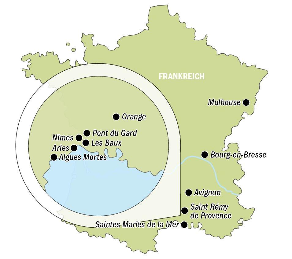 Provence und Camargue_Karte