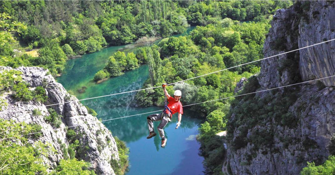Kroatien, Zip-Line